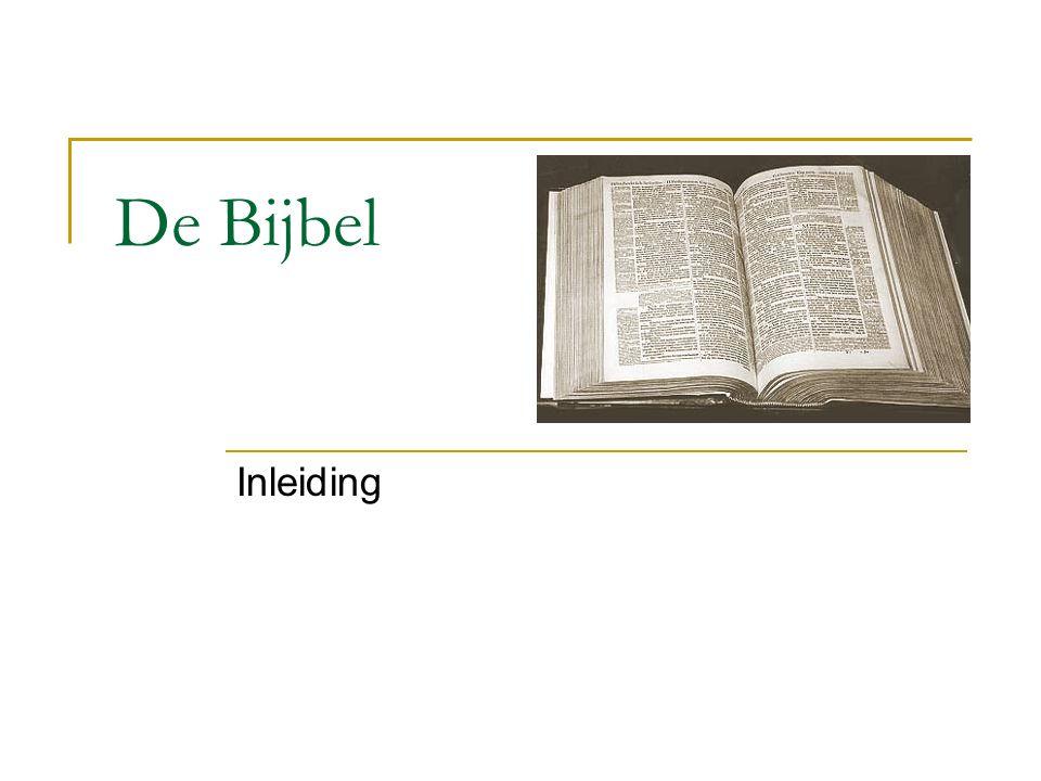 De Bijbel Inleiding
