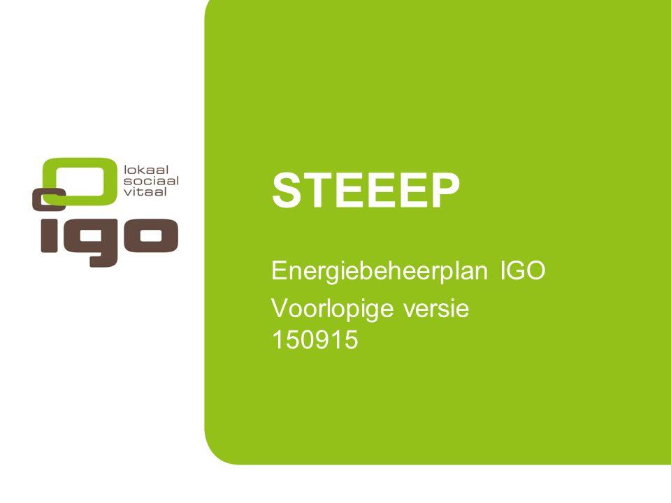 20 januari 2011Titel powerpoint1 STEEEP Energiebeheerplan IGO Voorlopige versie 150915
