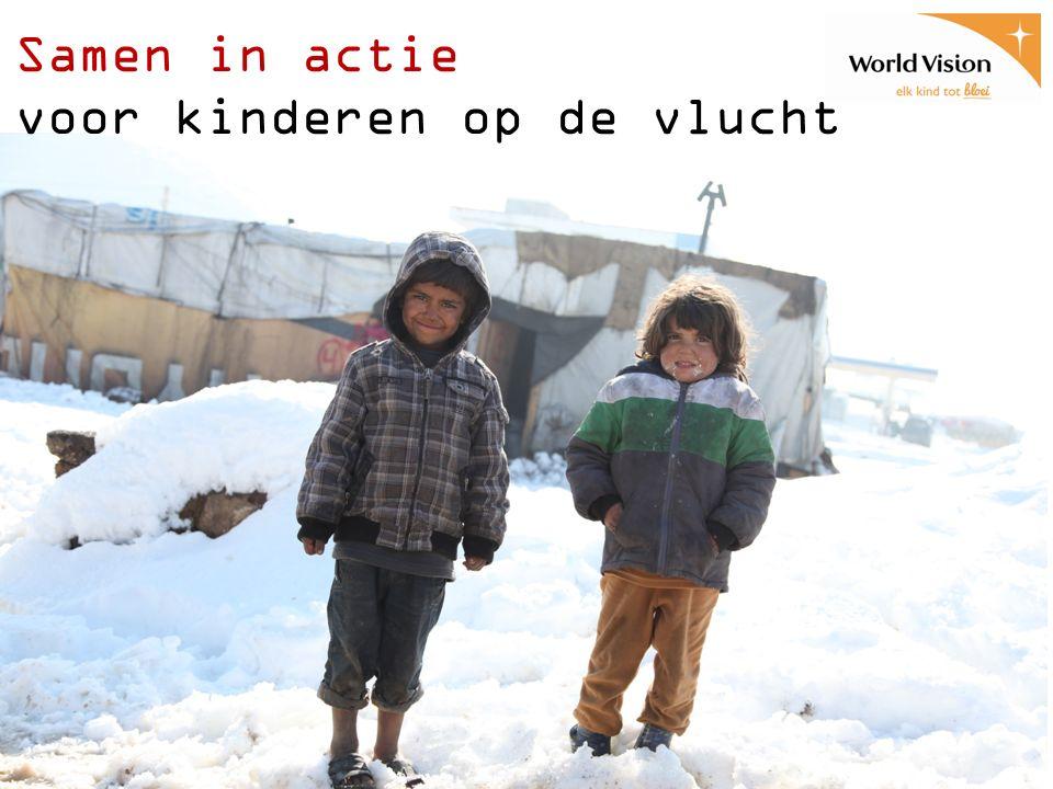 Samen in actie voor kinderen op de vlucht