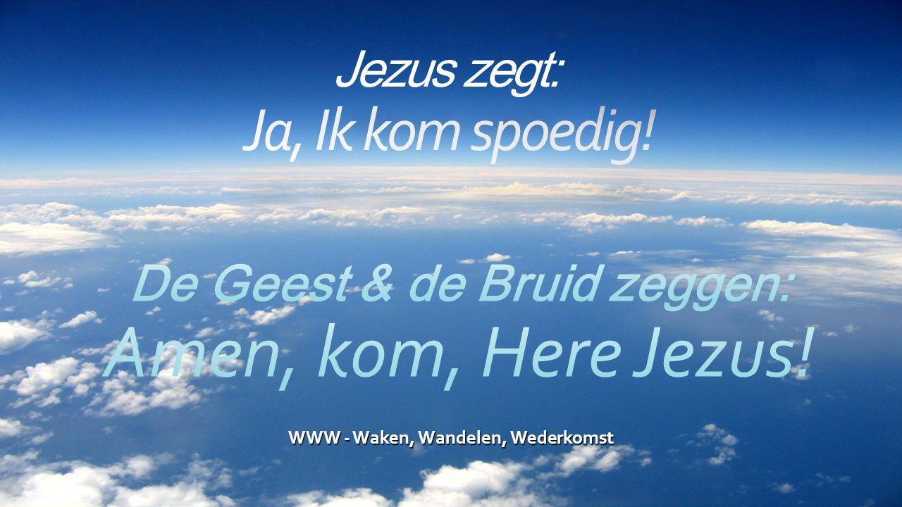 WWW - Waken, Wandelen, Wederkomst