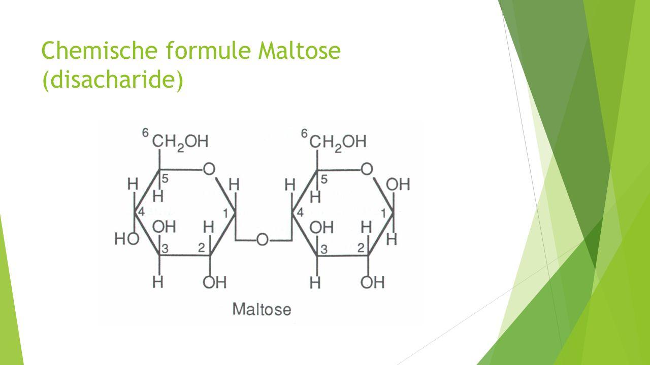Chemische formule Maltose (disacharide)