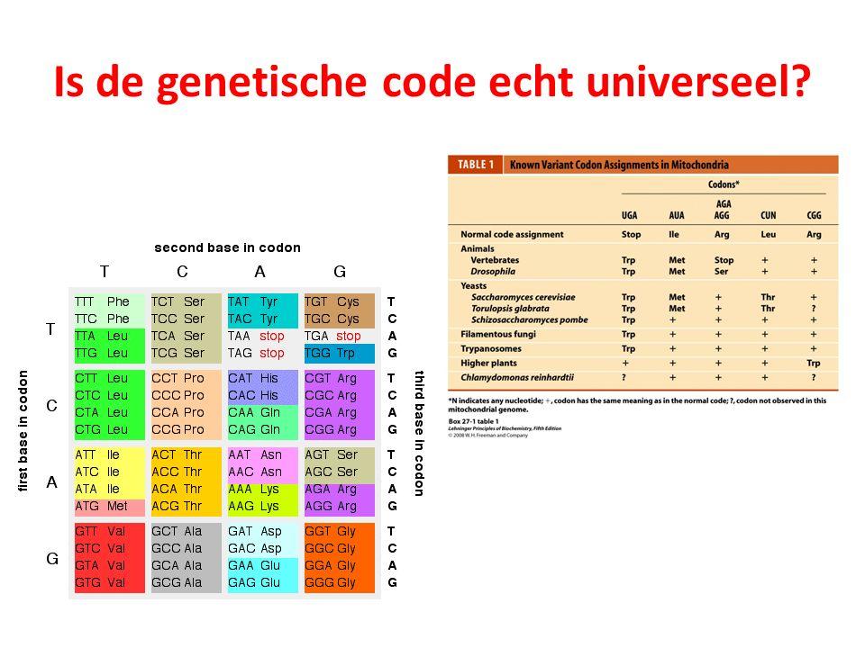 Is de genetische code echt universeel?