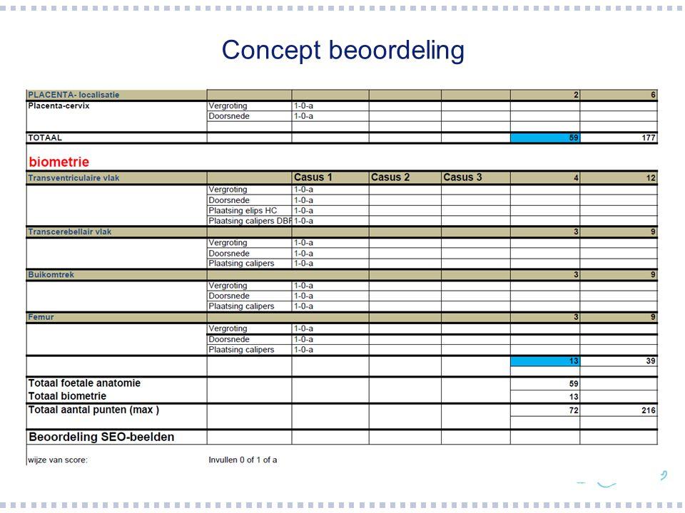 Concept beoordeling