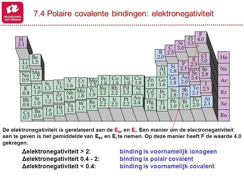 De elektronegativiteit is gerelateerd aan de E ea en E i. Een manier om de electronegativiteit aan te geven is het gemiddelde van E ea en E i te nemen