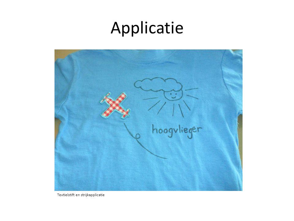 Applicatie Textielstift en strijkapplicatie