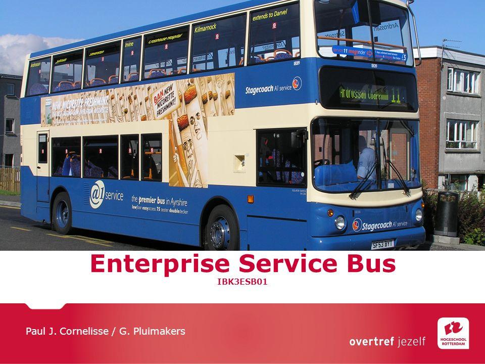 Enterprise Service Bus IBK3ESB01 Paul J. Cornelisse / G. Pluimakers