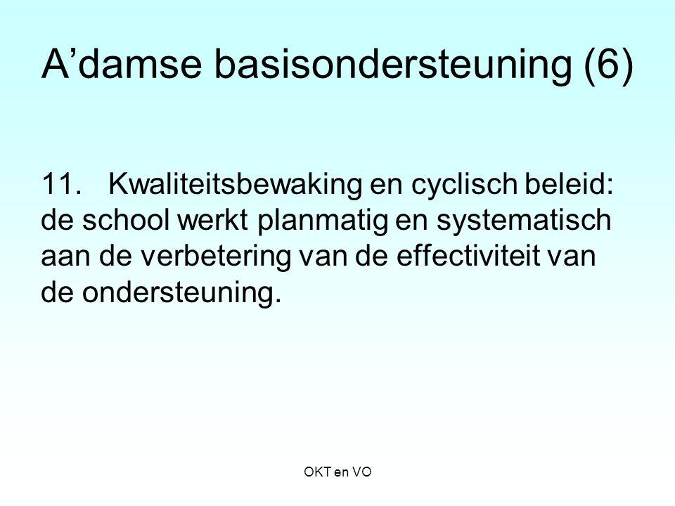 A'damse basisondersteuning (6) 11.Kwaliteitsbewaking en cyclisch beleid: de school werkt planmatig en systematisch aan de verbetering van de effectivi