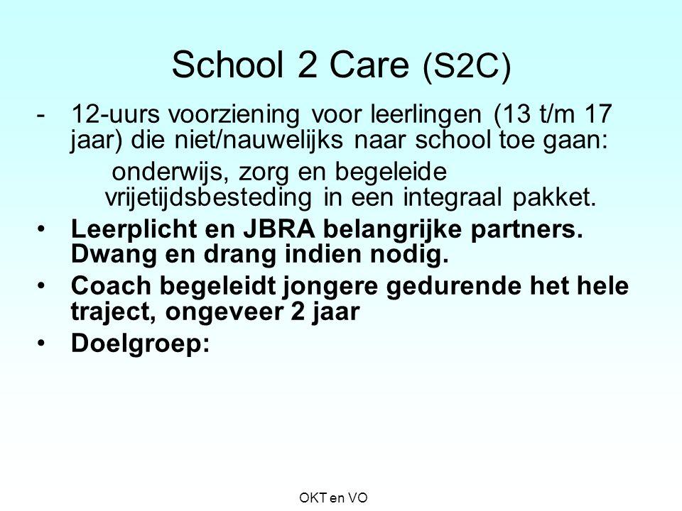School 2 Care (S2C) -12-uurs voorziening voor leerlingen (13 t/m 17 jaar) die niet/nauwelijks naar school toe gaan: onderwijs, zorg en begeleide vrije