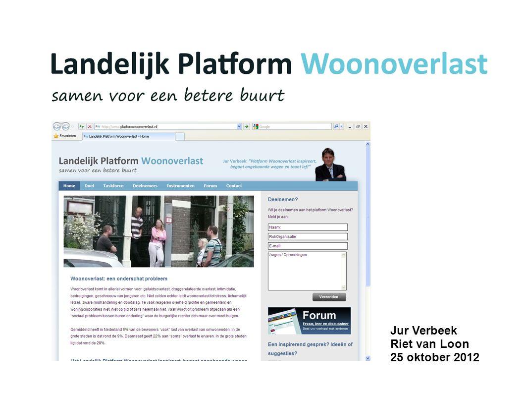 Jur Verbeek Riet van Loon 25 oktober 2012