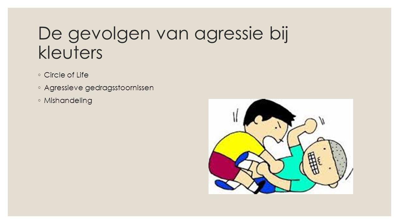 De gevolgen van agressie bij kleuters ◦ Circle of Life ◦ Agressieve gedragsstoornissen ◦ Mishandeling