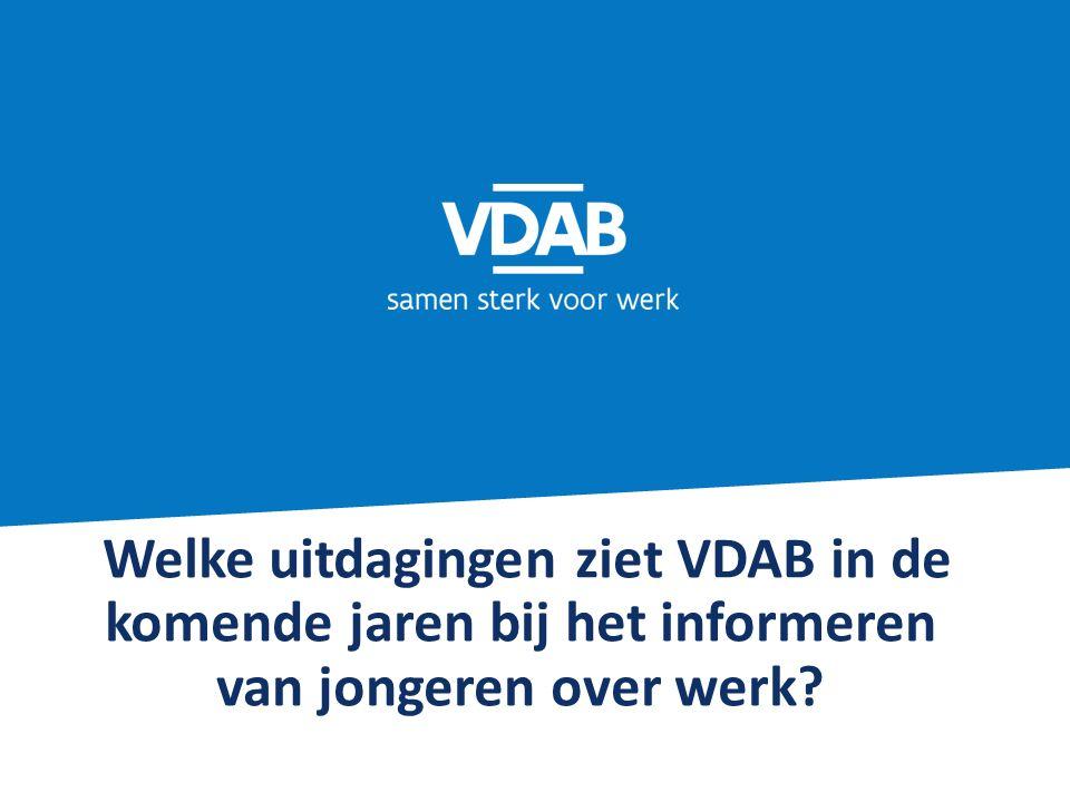 Welke uitdagingen ziet VDAB in de komende jaren bij het informeren van jongeren over werk