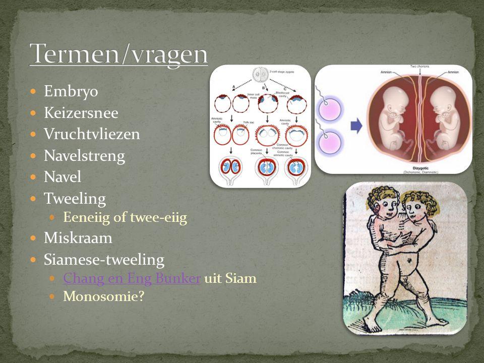 Embryo Keizersnee Vruchtvliezen Navelstreng Navel Tweeling Eeneiig of twee-eiig Miskraam Siamese-tweeling Chang en Eng Bunker uit Siam Chang en Eng Bu