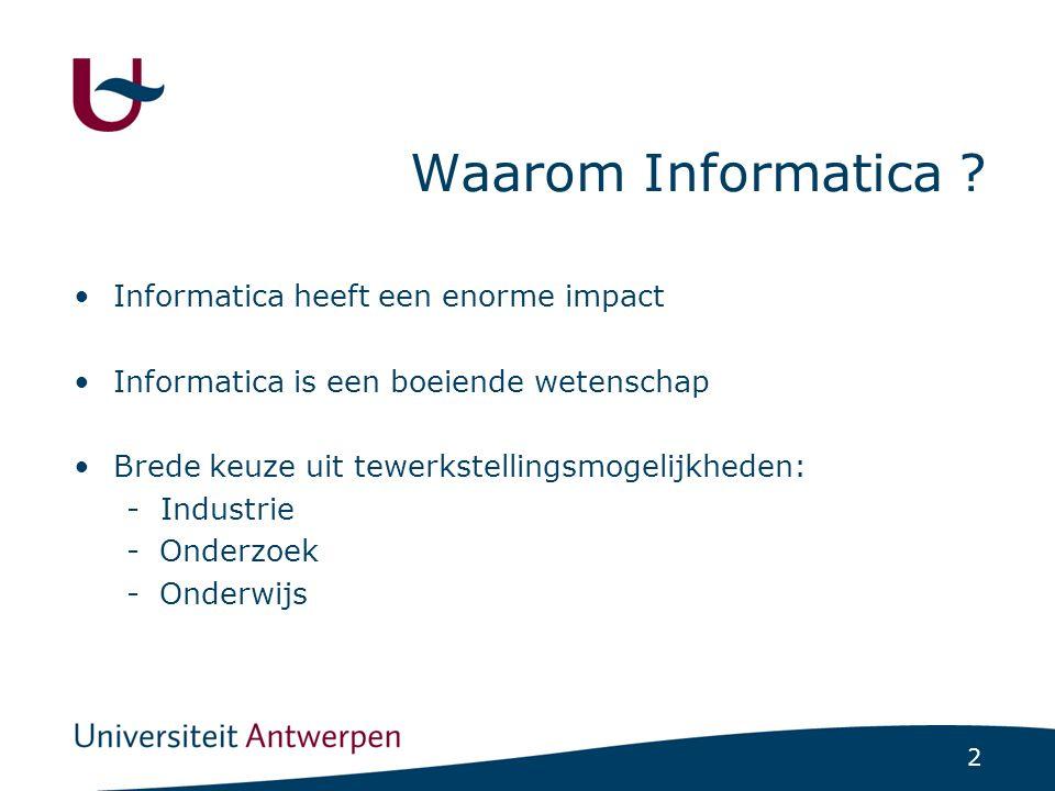 2 Waarom Informatica .