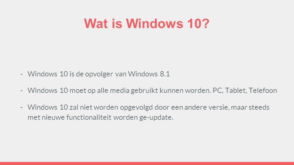 Microsoft's timeline voor de Windows produkten