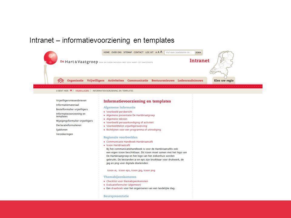Intranet – informatievoorziening en templates