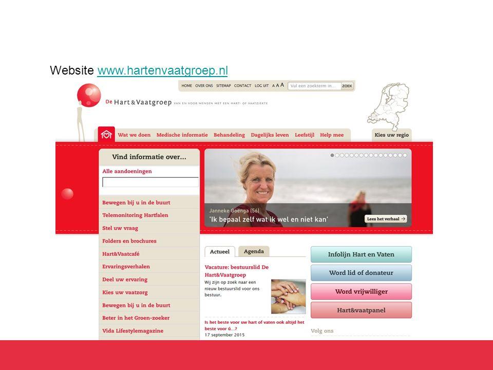 Website www.hartenvaatgroep.nlwww.hartenvaatgroep.nl