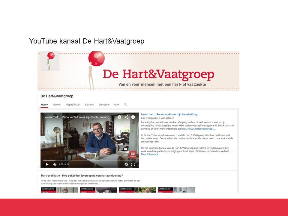 YouTube kanaal De Hart&Vaatgroep