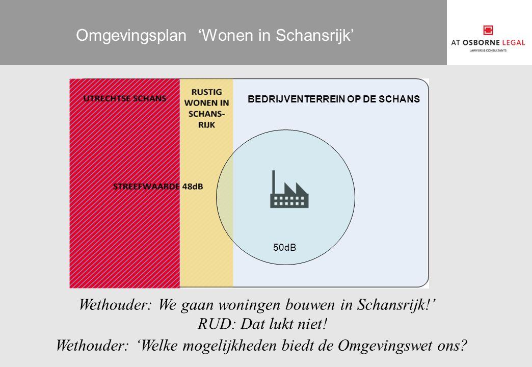 Omgevingsplan 'Wonen in Schansrijk' BEDRIJVENTERREIN OP DE SCHANS Wethouder: We gaan woningen bouwen in Schansrijk!' RUD: Dat lukt niet! Wethouder: 'W