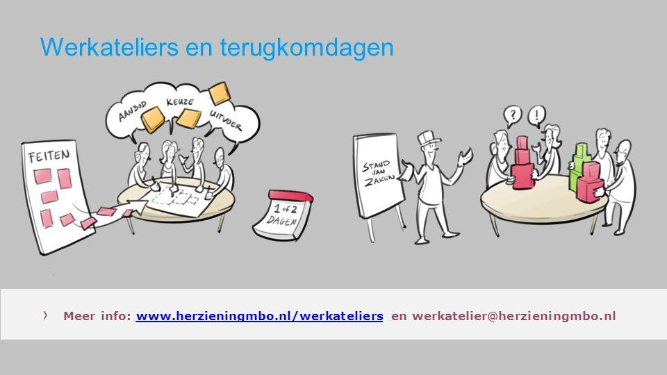 Werkateliers en terugkomdagen › Meer info: www.herzieningmbo.nl/werkateliers en werkatelier@herzieningmbo.nlwww.herzieningmbo.nl/werkateliers