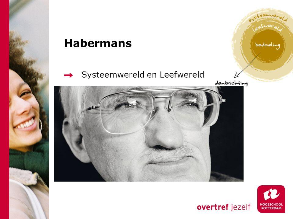 Habermans Systeemwereld en Leefwereld
