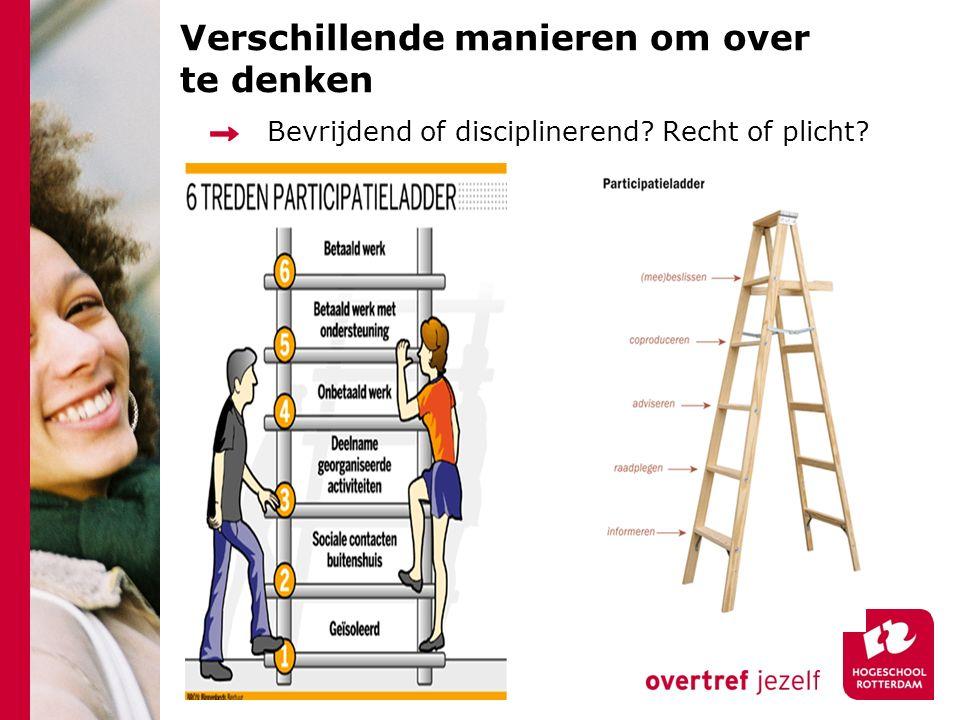 Verschillende manieren om over te denken Bevrijdend of disciplinerend? Recht of plicht?