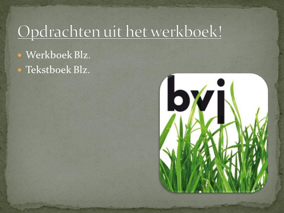 Werkboek Blz. Tekstboek Blz.