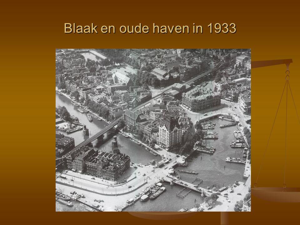 Blaak en oude haven in 1933