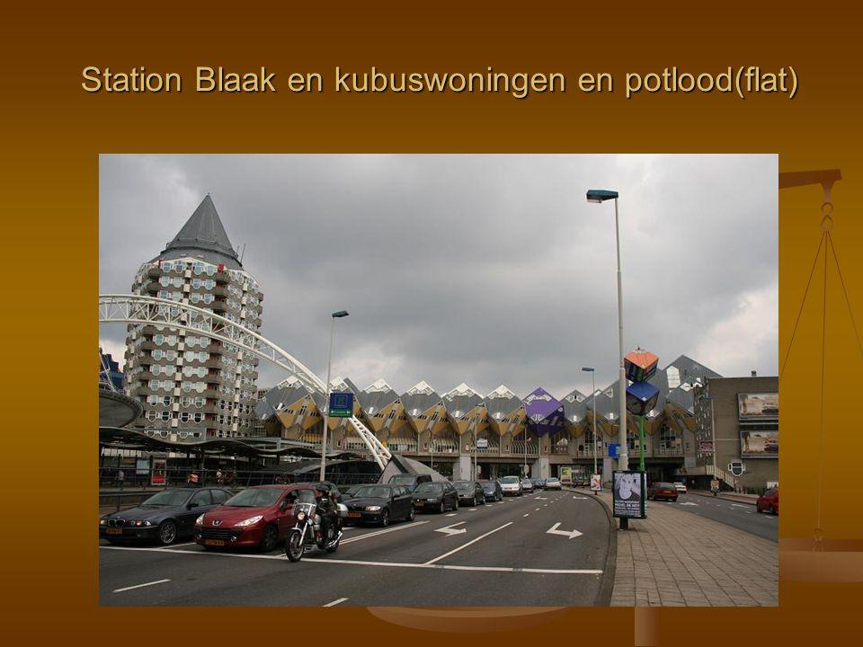 Station Blaak en kubuswoningen en potlood(flat)