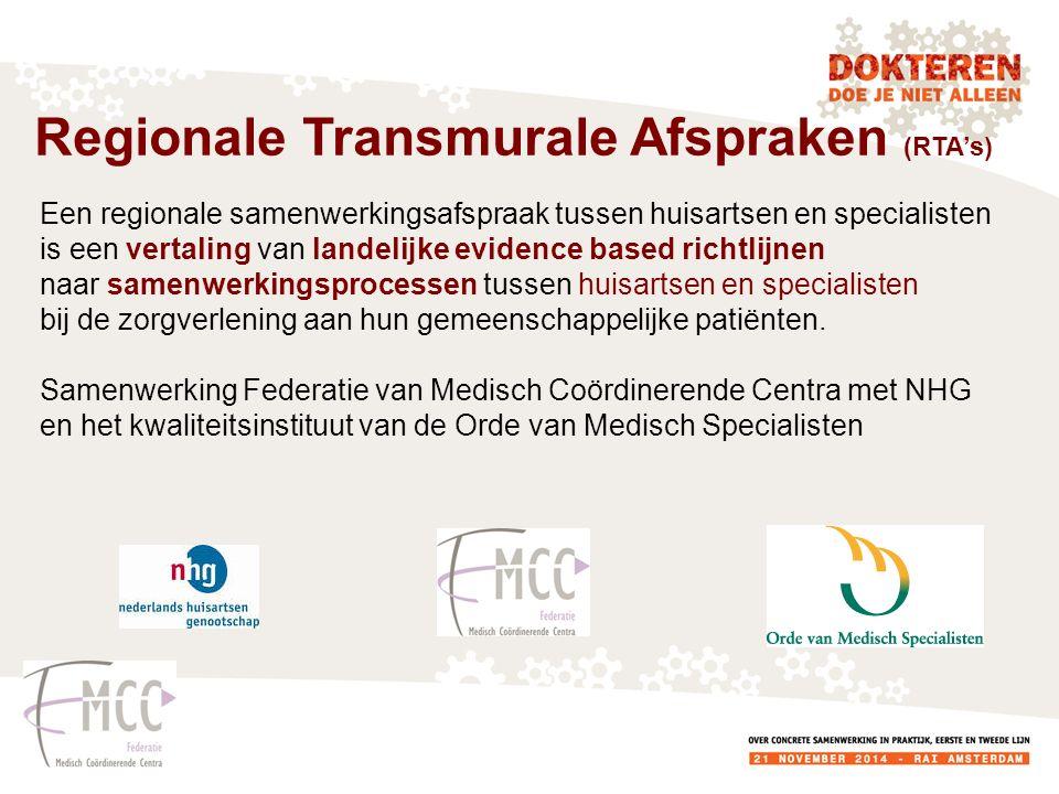 Een regionale samenwerkingsafspraak tussen huisartsen en specialisten is een vertaling van landelijke evidence based richtlijnen naar samenwerkingspro