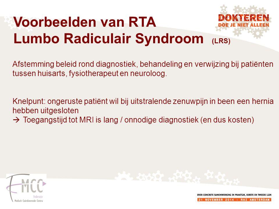 Afstemming beleid rond diagnostiek, behandeling en verwijzing bij patiënten tussen huisarts, fysiotherapeut en neuroloog.