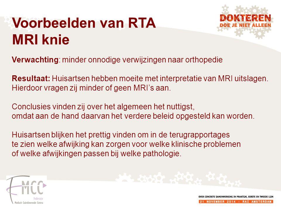 Verwachting: minder onnodige verwijzingen naar orthopedie Resultaat: Huisartsen hebben moeite met interpretatie van MRI uitslagen.