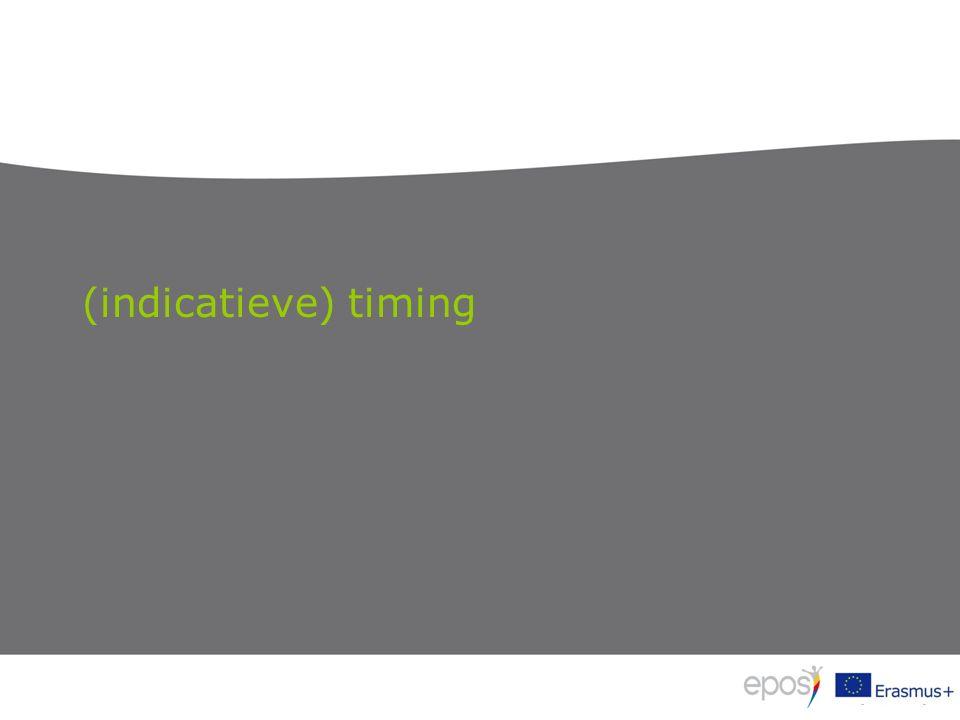 (indicatieve) timing