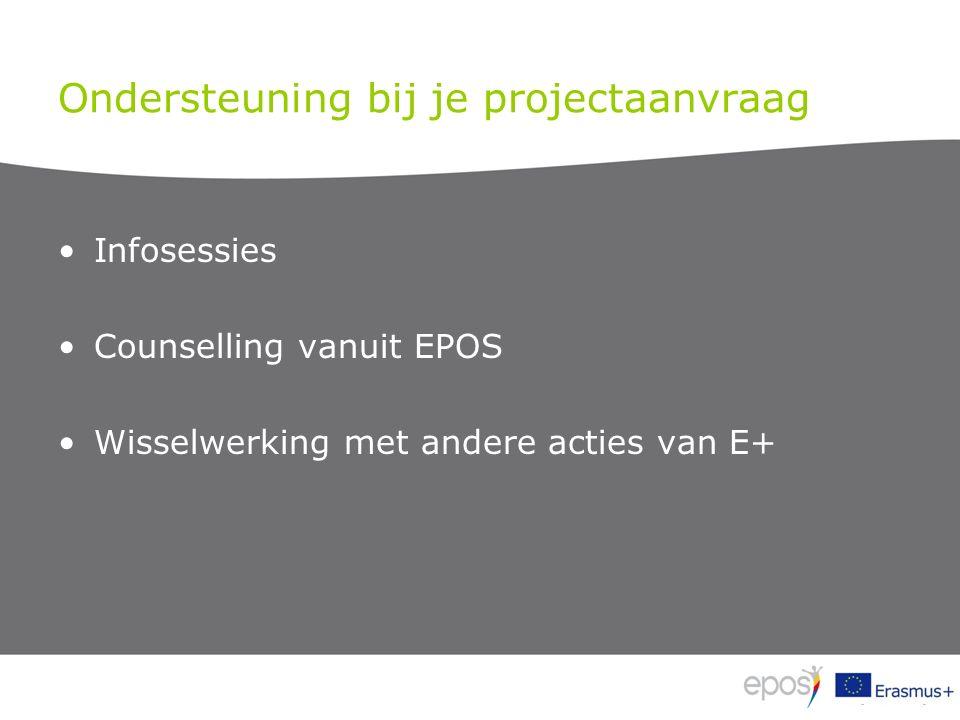 Infosessies Counselling vanuit EPOS Wisselwerking met andere acties van E+