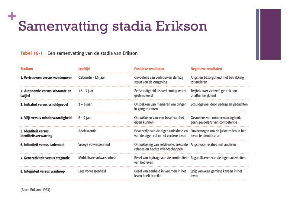 + Samenvatting stadia Erikson