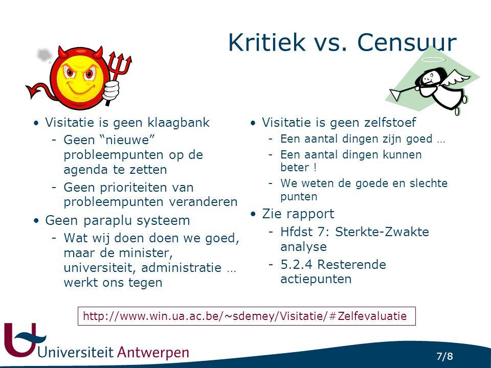 7/8 Kritiek vs.