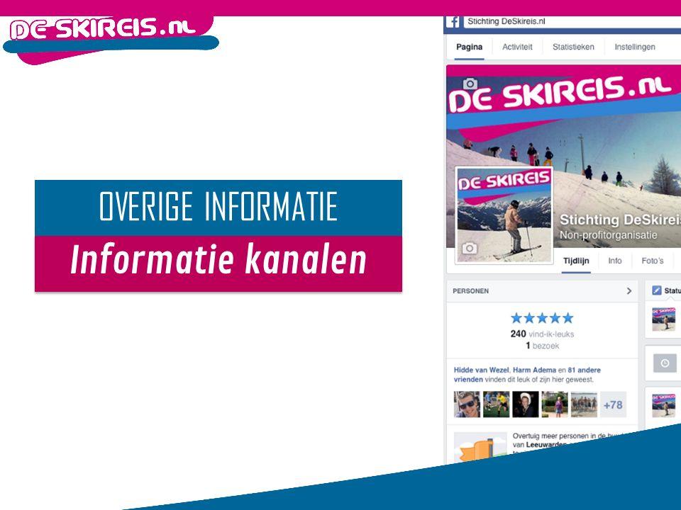 Informatie kanalen OVERIGE INFORMATIE