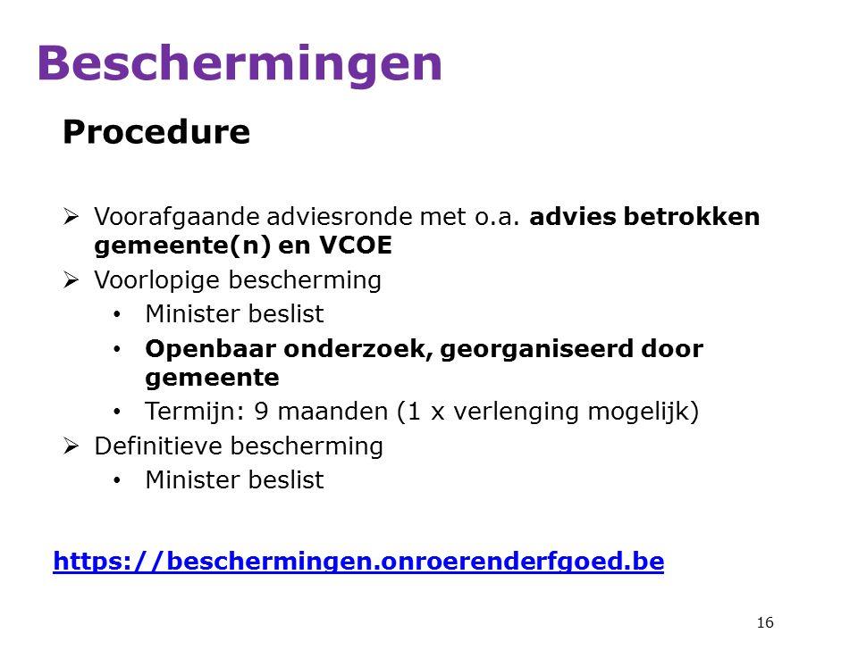 Procedure  Voorafgaande adviesronde met o.a.