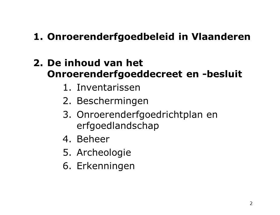 Onroerenderfgoedbeleid in Vlaanderen