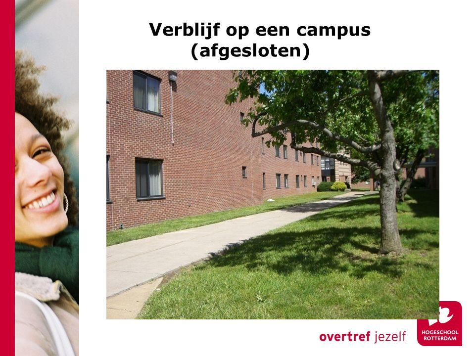 Verblijf op een campus (afgesloten)