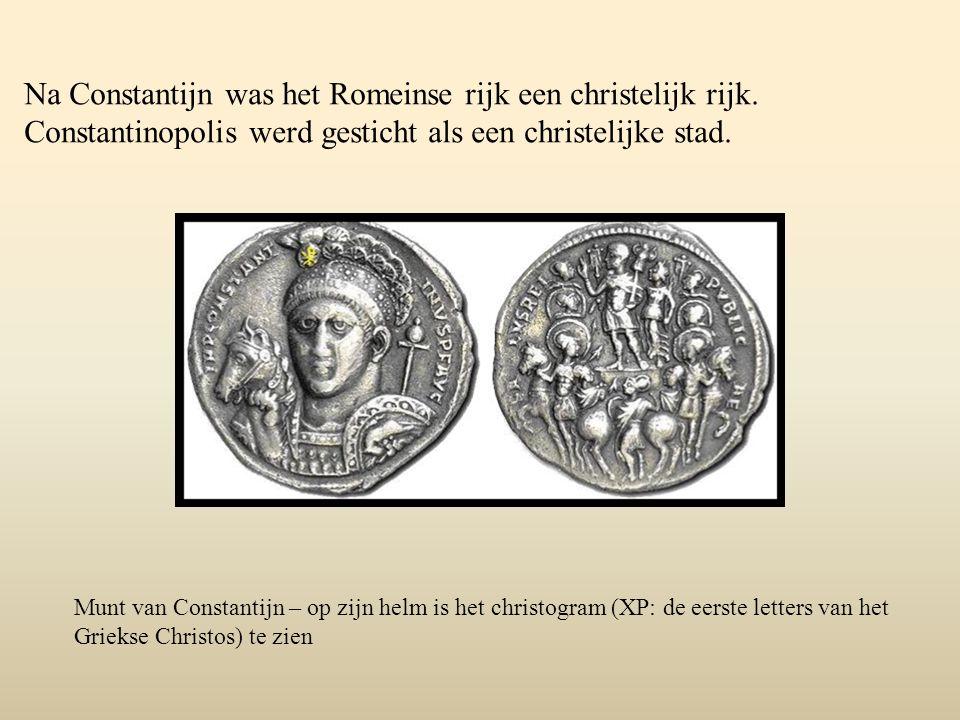 Na Constantijn was het Romeinse rijk een christelijk rijk.