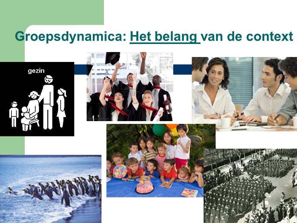 Groepsdynamica: Het belang van de context