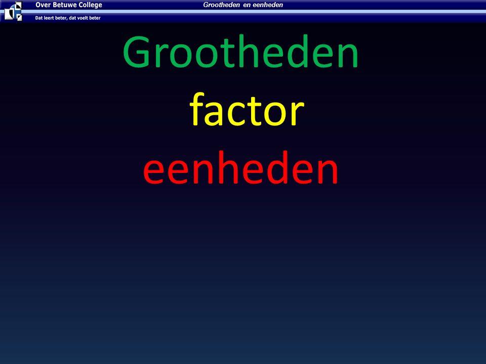 Metriek stelsel wiskunde Factor Nu kunnen we het metriek stelsel ook wetenschappelijk schrijven.
