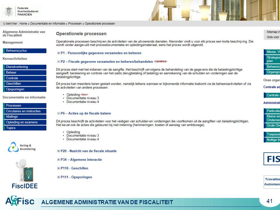 ALGEMENE ADMINISTRATIE VAN DE FISCALITEIT 41