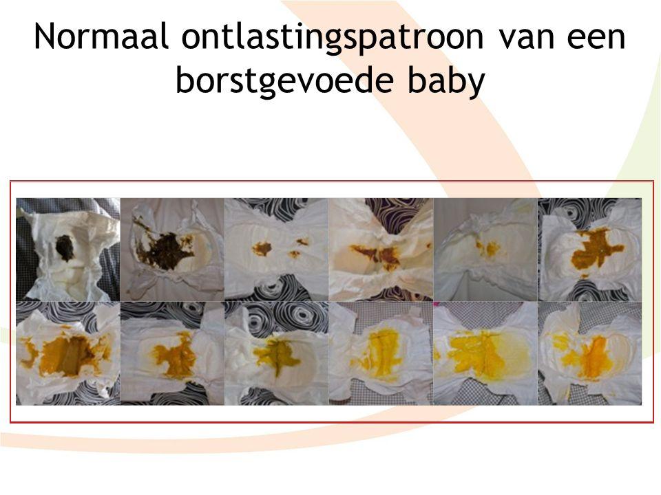 Normaal ontlastingspatroon van een borstgevoede baby