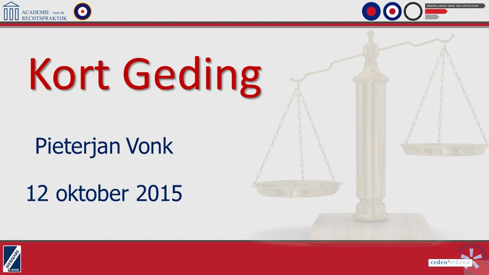 Kort Geding Pieterjan Vonk 12 oktober 2015