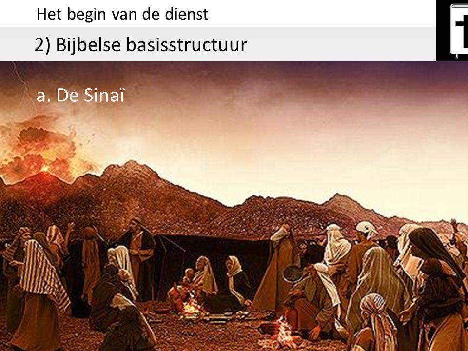 Het begin van de dienst 2) Bijbelse basisstructuur a. De Sinaï