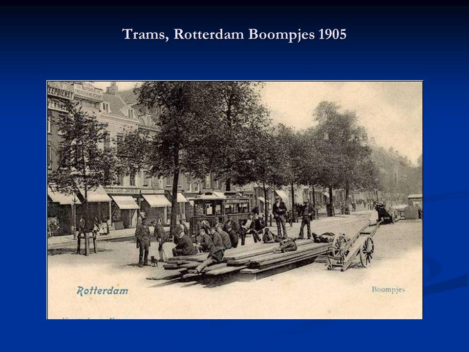 Trams, Rotterdam Boompjes 1905