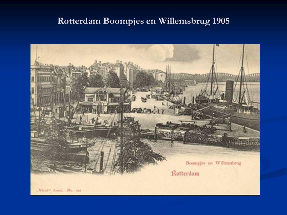 Rotterdam Boompjes en Willemsbrug 1905