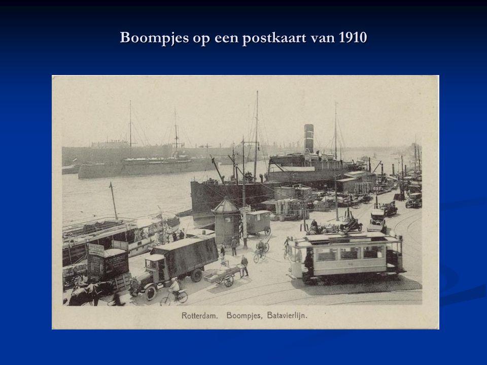 Boompjes op een postkaart van 1910