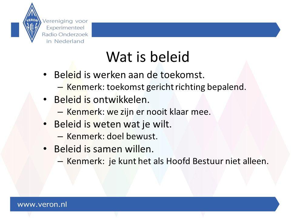 Wat is beleid Beleid is werken aan de toekomst. – Kenmerk: toekomst gericht richting bepalend.